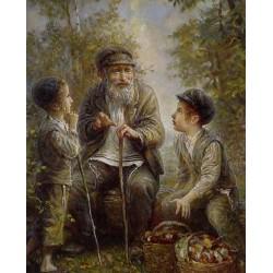Elena Flerova - In the Forest | Jewish Art Oil Painting Gallery