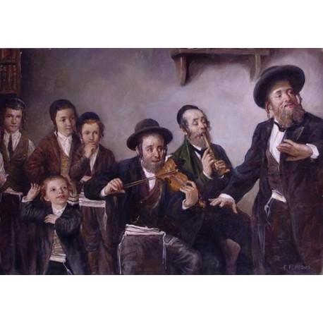Elena Flerova - Kliezmers | Jewish Art Oil Painting Gallery