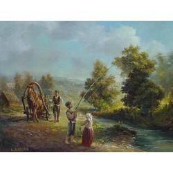 Elena Flerova - Landscape II | Jewish Art Oil Painting Gallery