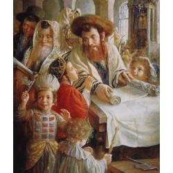 Elena Flerova - Purim   Jewish Art Oil Painting Gallery