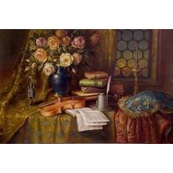 Elena Flerova - Still Life II | Jewish Art Oil Painting Gallery