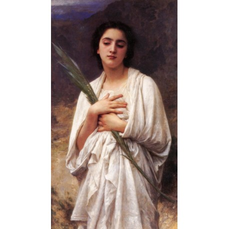 The Palm Leaf  by  William Adolphe Bouguereau - Art gallery oil painting reproductions