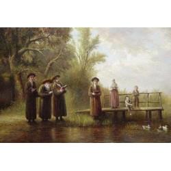 Elena Flerova -Tashlich III | Jewish Art Oil Painting Gallery