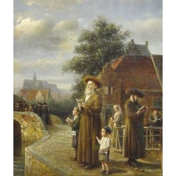 Elena Flerova - Tashlich IV | Jewish Art Oil Painting Gallery