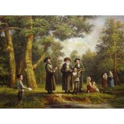 Elena Flerova - Tashlich II | Jewish Art Oil Painting Gallery