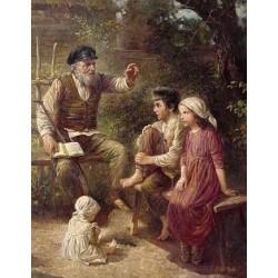 Elena Flerova - Telling a Story | Jewish Art Oil Painting Gallery