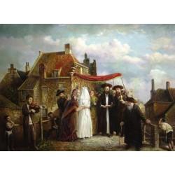 Elena Flerova - The Chupah | Jewish Art Oil Painting Gallery