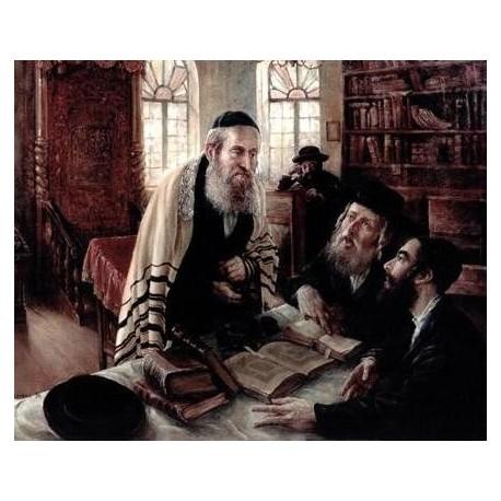 Elena Flerova - The Debate | Jewish Art Oil Painting Gallery