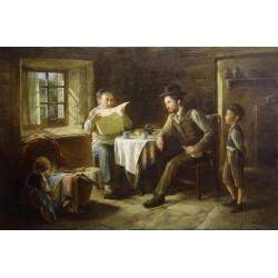 Elena Flerova - The Family II | Jewish Art Oil Painting Gallery