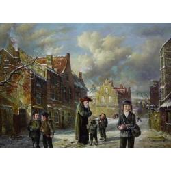 Elena Flerova - Winter | Jewish Art Oil Painting Gallery