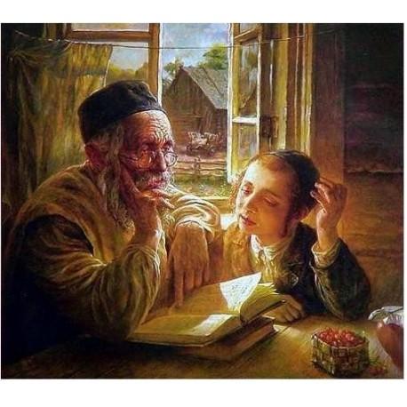 Elena Flerova - Making a Point I | Jewish Art Oil Painting Gallery