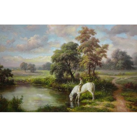 Elena Flerova - Landscape | Jewish Art Oil Painting Gallery