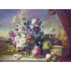 Elena Flerova - Still Life | Jewish Art Oil Painting Gallery