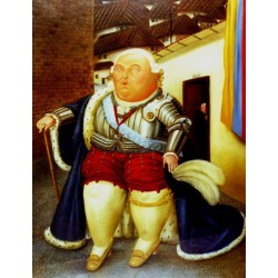 Waiting by the phone By Fernando Botero - Art gallery oil painting reproductions