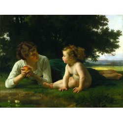 Temptation by William Adolphe Bouguereau - Art gallery oil painting reproductions