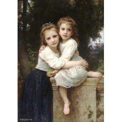 Two Sisters 1901 by William Adolphe Bouguereau - Art gallery oil painting reproductions