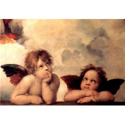 Painting of Cherubim After a Detail of Sistine Madonna by Raffaello Sanzio oil painting art gallery