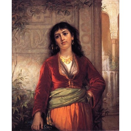 The Unwelcome Companion - A Street Scene in Cairo 1873 by John William Waterhouse