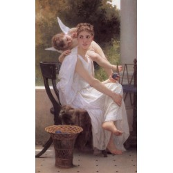 Work Interrupted 1891 by William Adolphe Bouguereau - Art gallery oil painting reproductions