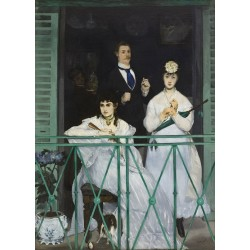 The Balcony 1868 By Edouard Manet