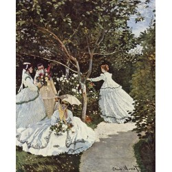 Women in the Garden (1866) By Claude Monet