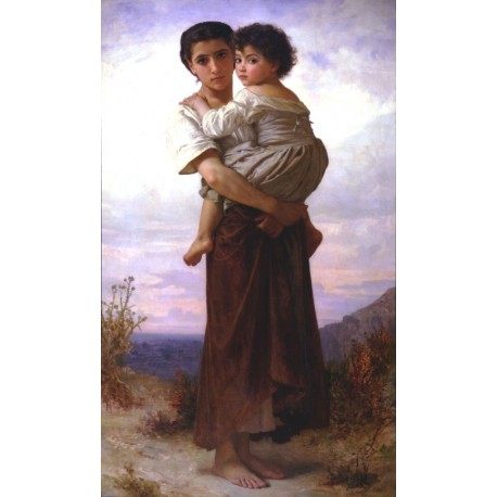 Young Gypsies 1879 by William Adolphe Bouguereau - Art gallery oil painting reproductions