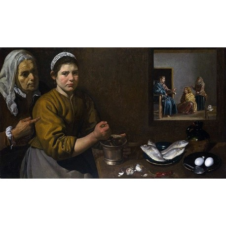 Christ in the House of Martha and Mary (1618) By Diego Velázquez