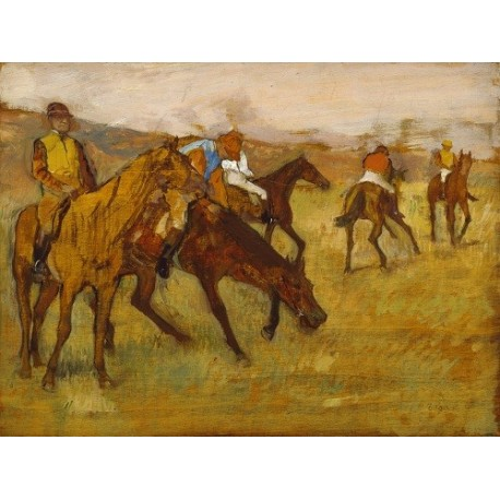 Before the Race (1882) By Edgar Degas