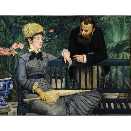 In the Conservatory 1879 By Edouard Manet