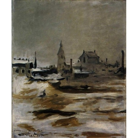 Effect of Snow on Petit-Montrouge 1870 By Edouard Manet