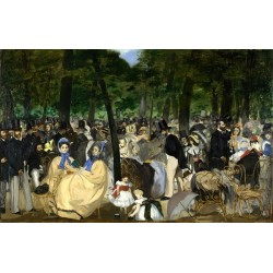 Music in the Tuileries 1862 By Edouard Manet