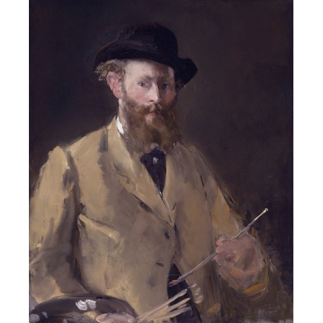 Self Portrait with Palette, 1878-79 By Edouard Manet