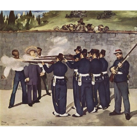The Execution of Emperor Maximilian By Edouard Manet