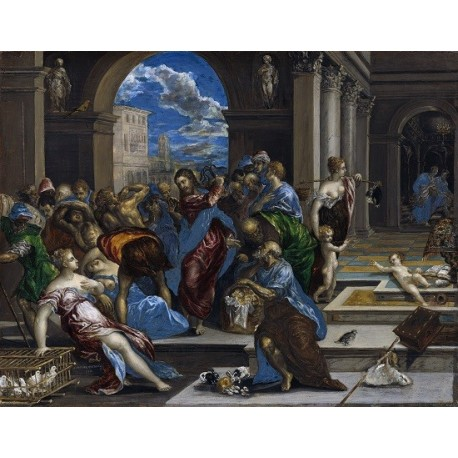 Christ Driving the Money Changers from the Temple (1568) By El Greco