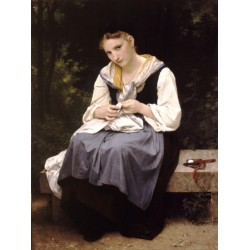 Young Worker 1869 by William Adolphe Bouguereau - Art gallery oil painting reproductions