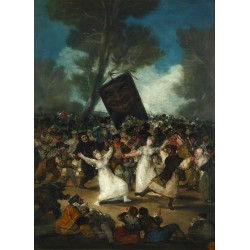 The Burial of the Sardine (c. 1812–19) By Francisco Goya