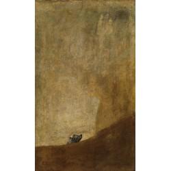 The Dog (c. 1819–1823) By Francisco Goya