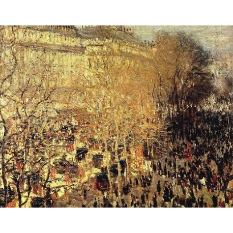 Boulevard Des Capucines by Claude Oscar Monet - Art gallery oil painting reproductions