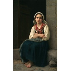 Yvonnette by William Adolphe Bouguereau - Art gallery oil painting reproductions