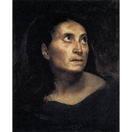 Head of a Woman by Eugene Delacroix