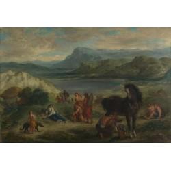 Ovid among the Scythians (1859) By Eugene Delacroix