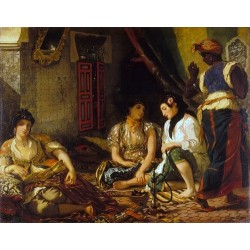 The Women of Algiers (1834) By Eugene Delacroix