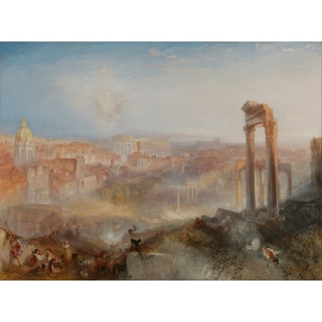 Modern Rome – Campo Vaccino (1839) by Joseph Mallord William Turner