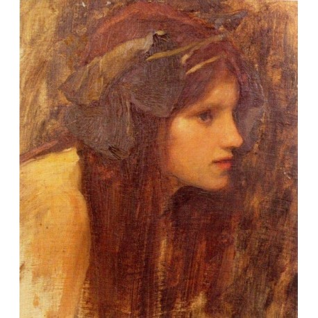 A Naiad Study 1893 by John William Waterhouse - Art gallery oil painting reproductions