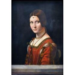 Lady From the Court of Milan, La Belle Ferronniere 1490 by Leonardo Da Vinci