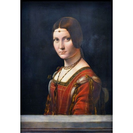 Lady From the Court of Milan, La Belle Ferronniere 1490 by Leonardo Da Vinci