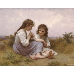 A Childhood Idyll by  William Adolphe Bouguereau