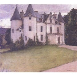 A Scottish Baronial House 1907 by John William Waterhouse - Art gallery oil painting reproductions