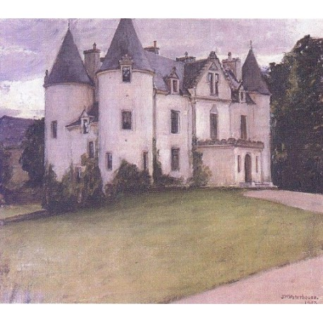 A Scottish Baronial House 1907 by John William Waterhouse