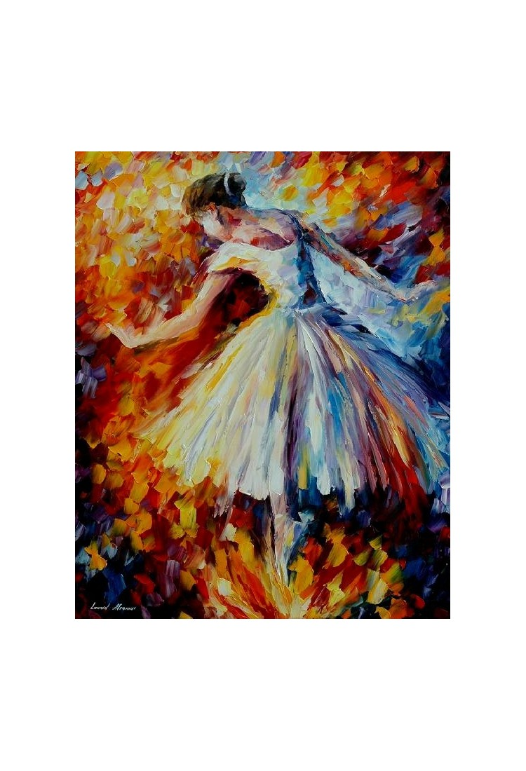 Ballerina Home Decor Abstract Oil Painting